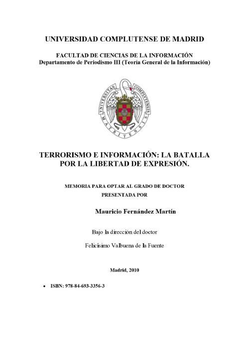 TERRORISMO E INFORMACIÓN: LA BATALLA POR LA LIBERTAD DE EXPRESIÓN