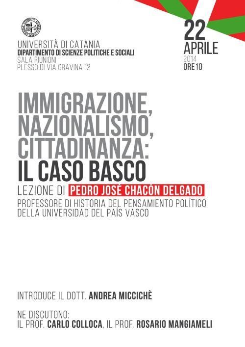 Conferencia de Pedro José Chacón sobre inmigración y nacionalismo vasco