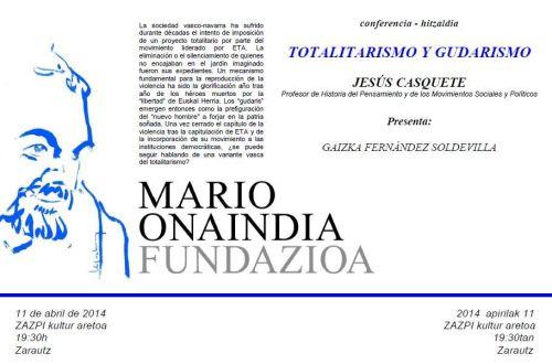 Conferencia sobre totalitalismo y nacionalismo vasco radical en Zarauz este viernes