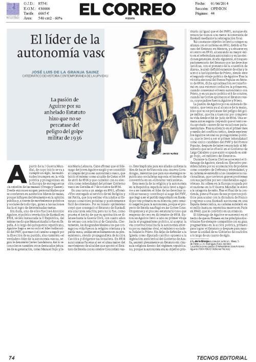 José Luis de la Granja: El héroe de la autonomía vasca