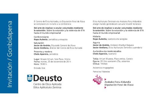 Invitacion conferencia Kepa Aulestia