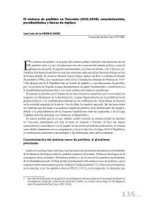 El sistema de partidos en Vasconia
